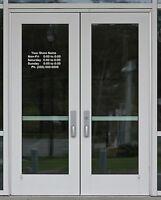 Business Custom Store Hours Vinyl Decal Graphic Window Sign  X - Custom vinyl decals colorado springs