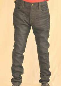 Jimmy Taverniti Men's Jeans Size W33 Extra Long Black Wax Wash New
