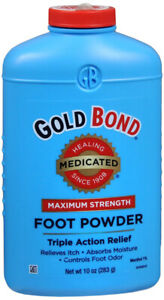 GOLD BOND MEDICATED MAXIMUM STRENGTH FOOT POWDER 10oz