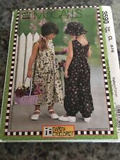 McCall's Pattern 3590 Mary Engelbreit Childs Dress & Romper & Hat Sz 6-8