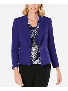 Kasper Regal Purple Pintuck Business Blazer Jacket Petites 4P Womens New NWT