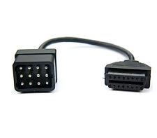 LKW Adapter für Renault 12 Pin auf 16 Pin Stecker OBD auf OBD2 Verbinder Stecker
