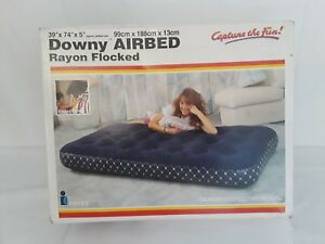 DOWNY AIRBED   RAYON  FLOCKED 39''X 74'' X 5''  NEW