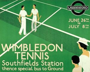 1933 Wimbledon Tennis Art Poster - 8x10 Color Photo