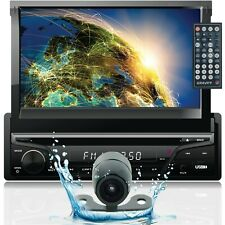 Gravity Single DIN Touch DVD/CD Player AM/FM Car Stereo with Bluetooth w/ Camera
