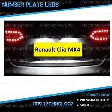 PREMIUM Renault Clio MK4 2012-2015 White LED Number Plate Light Bulbs Xenon