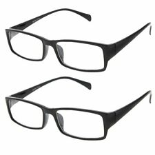2 Pack Value Fake Glasses Plastic Rim Clear Lens Plano for Interview Costume
