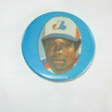 Montreal Expos Warren Cromartie MLB  Pin Back Button 1970's 80's 2 1/2  in. # 2