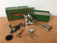 Vintage 1940s 1950s Singer Sewing Machine Attachments 160809 F/ Model 15 In Box