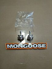 Nos old school Bmx/ Freestyle bike Mongoose Maurice valve caps one pair silver