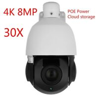 Hikvision-kompatible 4K 8MP POE IP Speed Dome PTZ-Kamera 20x Zoom Onvif IR 100m