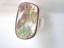 Handmade Natural Boulder opal Ring 925 Sterling Silver Ring Size-6 Gemstone Ring
