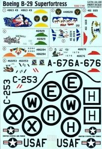 Print Scale 144-008 Decal for Boeing B-29 Superfortress - 1/144 scale