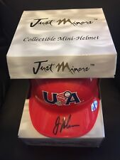 Joe Mauer Auto Signed Team USA Red Mini Helmet 104/120 SP Min Twins Just Minors