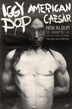 "18/9/93PGN46 IGGY POP : AMERICAN CAESAR ALBUM ADVERT 10X7"""