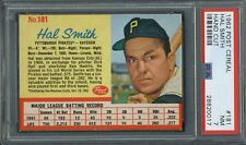 1962 POST CEREAL #181 HAL SMITH PITTSBURGH PIRATES PSA 7 hand cut