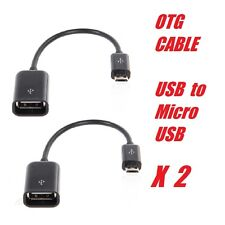 2 X Micro USB Male To USB Female OTG Cable Adapter For Andriod phone, keyboard