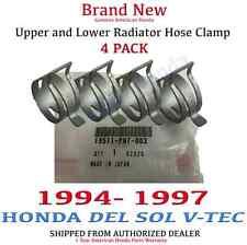 1994 - 1997 Honda DEL SOL Genuine OEM Honda Radiator Hose Clamp Kit Set of 4