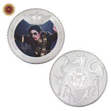 WR Michael Jackson SILVER Coin Autograph Signature Music Fans Memorabilia Gifts