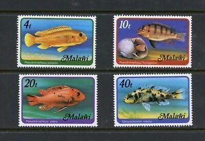 D212 Malawi 1977 Poisson Marine - Wmrk 357 4v. MNH
