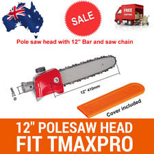 POLE SAW CHAINSAW ATTACHMENT W/BAR+CHAIN FIT TmaxPro BRUSHCUTTER/MULTI TOOL