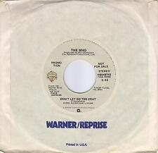 THE WHO  Don't Let Go The Coat  rare promo 45 from 1981