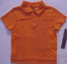 NWT DKNY Boys Orange Polo Top(Size 12 Months) NEW