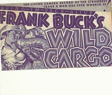 FRANK BUCK'S WILD CARGO(1934)ORIGINAL PRESSBOOK HERALD NICE!
