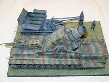 BUILT Diorama 1/35th WWII German 60 cm MORSER 'THOR' with MUNITIONSTRAGER