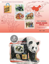 Pandas Bears Bären Stamps Hong Kong Fauna Animals Guinea-Bissau MNH stamp set