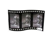 TRIPLE 3 Nero Retrò CURVO Pellicola vetro Novelty Free Standing Photo Frame 4 x 6
