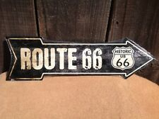 """Vintage Route 66 This Way To Arrow Sign Directional Novelty Metal 17"""" x 5"""""""