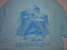 Vintage 80s Acid Rain We All Live Downwind Clean Air T Shirt Blue S