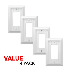 Value 4-Pack Rocker Toggle Switch Gfci Outlet Cottage White Wood Wallplate