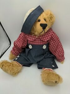 """Cindy McGuire China Cupboard Bear 18"""" Jointed Signed Boy Bear"""