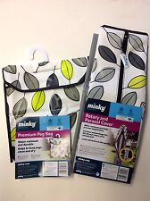 Minky Deluxe Outdoor Rotary Washing Line Airer Dryer Cover & Peg Bag Set - Leaf