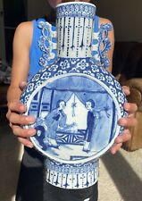 A large 19th century Chinese blue and white vase