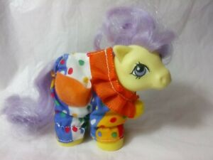 VINTAGE G1 1984 MY LITTLE PONY BABY LEMONDROP IN CLOWN COSTUME RARE VGC