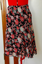INC Silk Chiffon Skirt - Floral - Sz 8