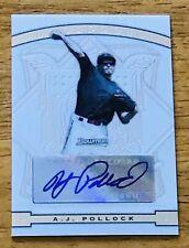 A.J. Pollock LA Dodgers Auto Autograph 2009 Topps Bowman Sterling Rookie Card RC