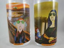 Maxine Drinking Glases Set of 2 Screaming Fit and Hissin Moaning Lisa Hallmark