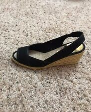 Micheal Kors Black Wedge Sandals Size 7.5