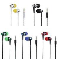 5 Farben Nylon Weave Kabel In-Ear Stereo Kopfhörer mit Mikrofon für Smartphone