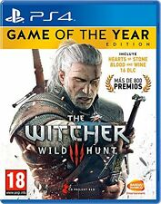 THE WITCHER 3 WILD HUNT GOTY GAME OF THE YEAR PAL ESPAÑA  WINE HEARTS  PS4