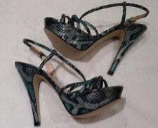 L.K. Bennett  snakeskin strappy sandal with high heel & platform  New size 4