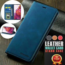 F Samsung S21 Note 20 Ultra S10 S9 Case Magnetic Flip Leather Wallet Case Cover