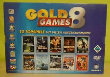 Gold Games 8 - 10 Topspiele - Sammlung Komplett in OVP - TOP