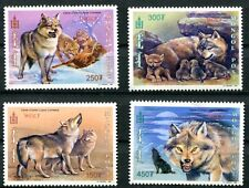 MONGOLIA 2000 WOLVES SET OF 4 STAMPS MINT COMPLETE - $4 VALUE!