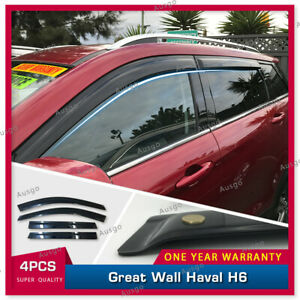 AUS Luxury Weather Shields Weathershields Window Visors for Great Wall Haval H6