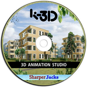 NEW & Fast Ship! K-3D 3D Modeling and Animation Studio Software - Windows Disc
